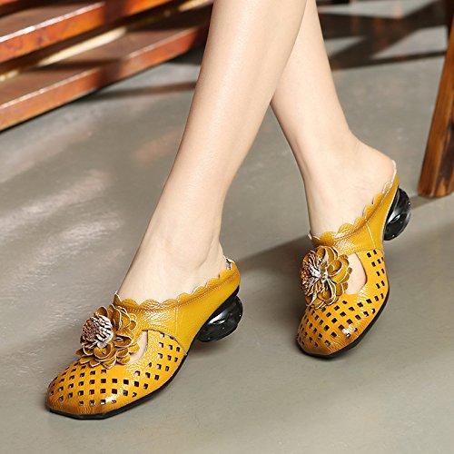 ZYUSHIZ  Sandales chaussons d'été Mme au style minimaliste Western 38EU