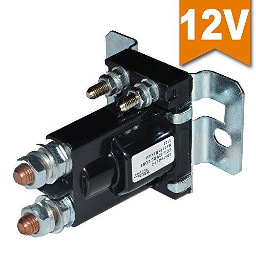 Ehdis® Relè di avviamento a corrente elevata 500 AMP DC 12V 4 pin SPST Auto Startatore di avviamento automatico Doppia batteria Isolatore di controllo Interruttore On / Off