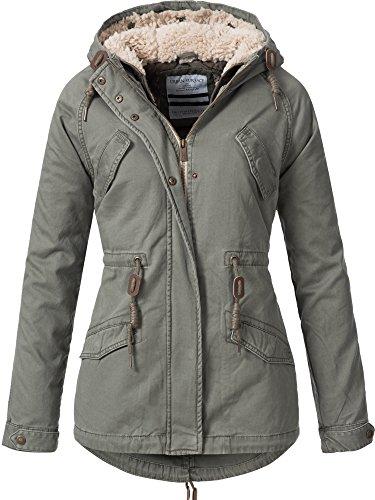 Urban surface d7210a44363a - giacca invernale da donna, 2 in 1, 6 colori, xs-xl verde xs