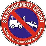 Novap 4062402 Panneau motif Défense de stationner mise en fourrière Blanc 604 x 400 x 75 mm