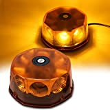 WoneNice Amber COB 8 LED Emergency Hazard Warning Light