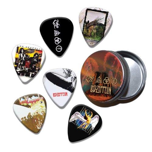 Led Zeppelin Set of 6 Loose Guitar Plektrons in Tin ( Collection E ) (Led Guitar Picks Zeppelin)