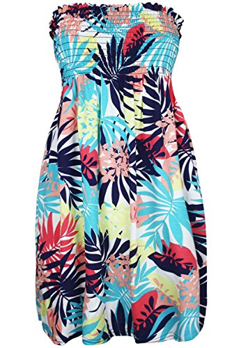Oops Outlet -  Vestito  - Senza maniche  - Donna Tropical Leaves