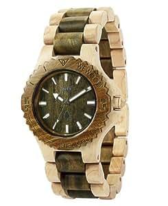 WeWood Date Armbanduhr aus Holz - Beige/Army