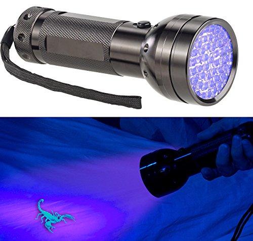 Lunartec UV Lampe: 2in1-UV-Taschenlampe und Geldscheinprüfer, 51 LEDs und Batteriebetrieb (Schwarzlicht Taschenlampe) (Weiß-euro-schein Schwarz Und)
