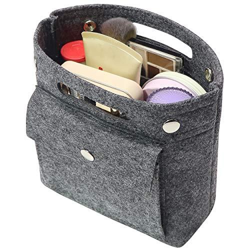 Geldbörsen Coach Handtasche (Soyizon Mini Organizer Filz Taschen Innentaschen Einkaufstasche Geldbörse Organisator einfügen für LV Speedy Neverfull NeoNoe Noe BB,Dunkelgrau)