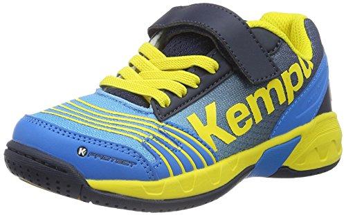 Kempa Unisex-Kinder Attack Handballschuhe, Mehrfarbig (Kempableu/Bl Marine/Jaune), 30 EU