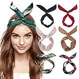 DRESHOW Boho Stirnbänder für Frauen Vintage Blume Gedruckt Haarband Wire Head Wrap Niedlichen...
