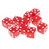 Segolike Set of 10 Pieces Six Sided D6 Dices Digital Dices Set for D&D TRPG MTG DND Playing Game Dice Toys Party Casino Board Games Toys - red