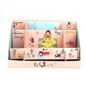 Boîte de Rangement Organisateur DIY En Papier Pour Bureau Déco Cosmétique