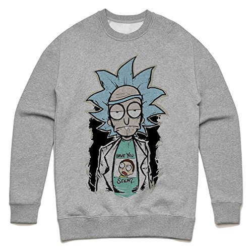 Have you seen Morty Rick and Morty design Unisex Sweater Grau