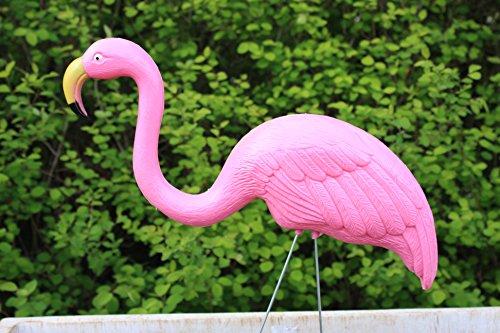 Flamingo Gartenstecker Teichfigur H 73cm (4 Flamingos)
