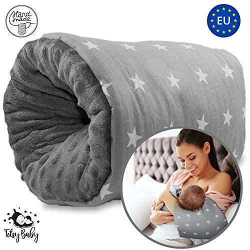 Cojin Lactancia Bebe - almohada de lactancia materna, Mini Cojín de lactancia para viajes, lavable...