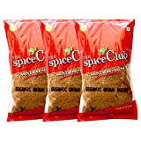 The Spice Club Organic Brown Sugar (Nattu Sakarai) 500g - Pack of 3. (100% Organic Product)