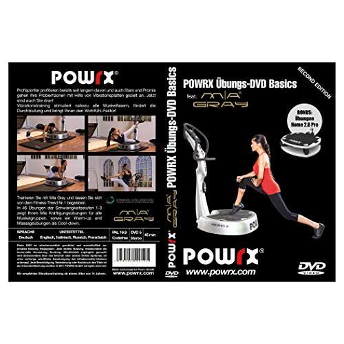 "Vibrationstrainings Übungs-DVD ""Basics"" - Vibrationsplatte - Vibration Plate - POWRX mit Mia Gray"