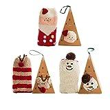 BAINASIQI Adulte Cartoon Animaux Stéréoscopiques Chaussettes de Velours de Corail Cadeau de Noël Un ensemble (3 pièces avec boîte) (Noël)