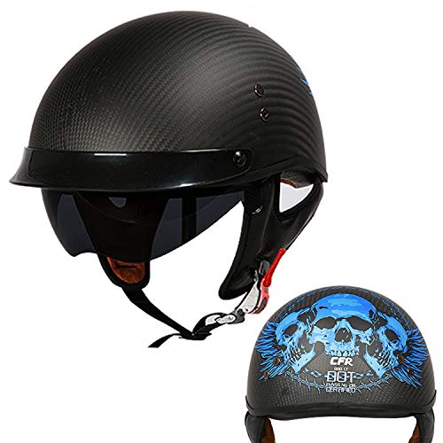 fiber anti-collision will protect men and women four seasons outdoor half helmet TDT certificate built-in goggles AA100 Harley motorcycle helmet M, L, XL, XXL