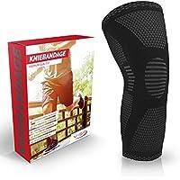Vigo Sports® Anti Rutsch Kniebandage für Sport, Schmerzlinderung & Genesung – Optimale Knieschützer für Männer & Damen – Elastische Knieschoner für Volleyball, Laufen & joggen