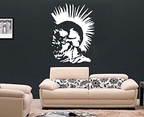 Punk Rock - vinilo adhesivo para pared con calavera con tatuaje y...