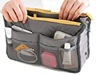 Puregadgets© Womens Handbag Purse Travel Organiser Large Bag Liner Ladies (grey)