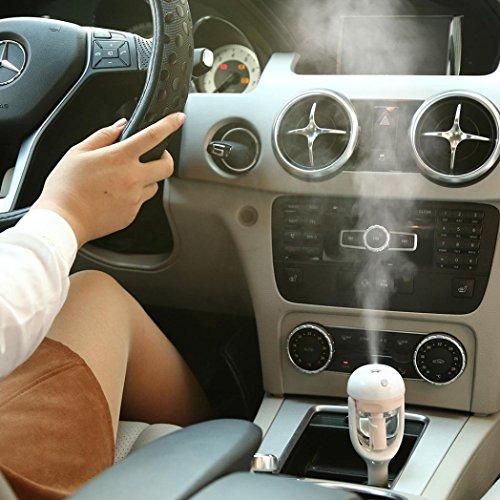 Preisvergleich Produktbild 25ml Aroma Diffusoren & Luftbefeuchter, Transer® Auto Mini-Luftbefeuchter für Autos Luftreiniger Lufterfrischer Reise Auto Tragbar Air Aroma Diffusoren, ABS-Kunststoff, rose, Size: 5.7*5.6*16.4cm