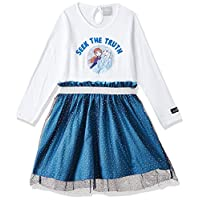 Disney Girl's Frozen Dress, Multicolour, 5 - 6 Years
