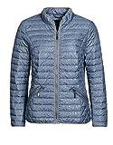 Bexleys woman by Adler Mode Damen Steppjacke mit Jersey-Paspelierung mit Stehkragen Eisblau 46