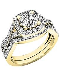 ed9fbd55359d Amazon.es  anillos de compromiso - Oro amarillo  Joyería