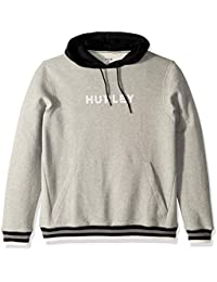 Hurley M East Coast Fleece Pullover Sudaderas, Hombre, dk Grey Heather, L