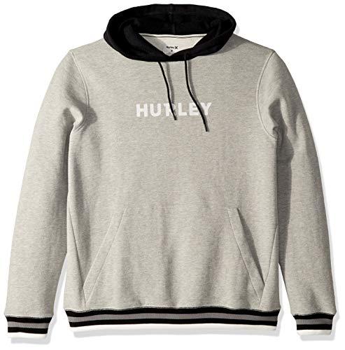 Hurley Herren M East Coast Fleece Pullover Shorts, dk Grey Heather, L