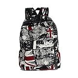 Fieans Union Jack Flag Leinwand Reise Rucksack Freizeitrucksack School Bag