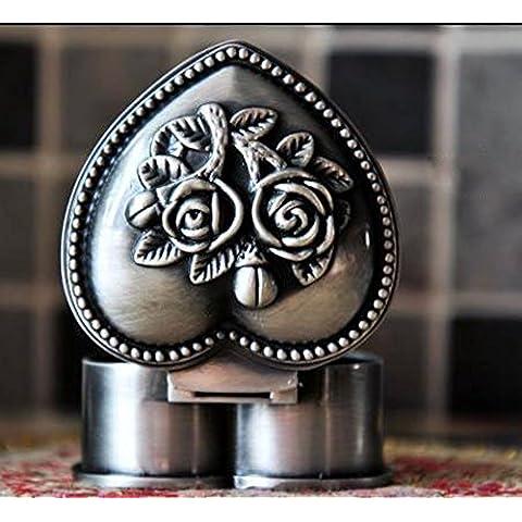 Andonger Russia europea principessa gotica metallo Jewelry Box Rosa Scrigno del cuore dell'amante Jewellery Box - Scrigno Cuore