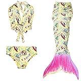Das Beste Mädchen Meerjungfrauen Bikini Kostüm Meerjungfrau Schwimmanzug Badeanzüge Tankini, Farbe: Boot, Gr. 150