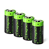 CR123A Rechargeable Lithium Battery - Batteriol 4 Pack RCR123A 3.7V 750mAh for ARLO CAMERA VMC3030 Flashlight Camcorder Toy Torch
