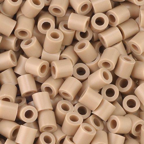 Fuse Beads, 5x5 mm, beige, medium, 1100 pc