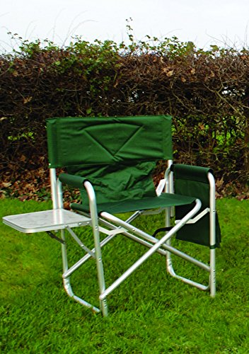 mp-essentials-strong-sturdy-portable-travel-sports-directors-chair-with-pockets-table-green