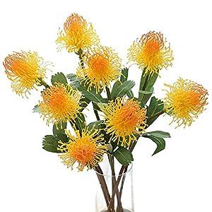Whiie891203 Flores Artificiales Falsas Plantas, Flores Artificiales Arreglos Escénicos Ramos De Boda Decoraciones…