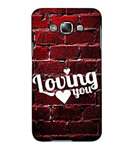 Fuson Designer Back Case Cover for Samsung Galaxy E5 (2015) :: Samsung Galaxy E5 Duos :: Samsung Galaxy E5 E500F E500H E500Hq E500M E500F/Ds E500H/Ds E500M/Ds (Loving you theme)