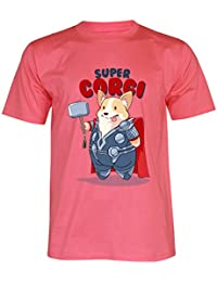 PALLAS Unisex's Super Corgi Cute Puppy Funny T-Shirt
