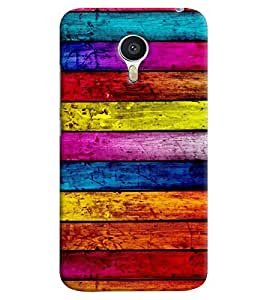 Omnam Stripes Colored Pattern Printed Back Cover Case For Meizu M3 Note