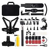 Victure Action Kamera Zubeh�r Set, 50 in 1 Sport-Kamera Zubeh�r Kit mit Tragetasche schwarz Bild