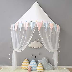 Nordic Ideas Ciel de Lit avec Moustiquaire Bebe Fille Garcon Tente ...