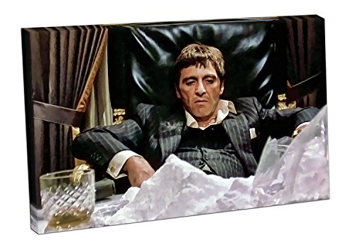 and American Gangster Tony Montana Scarface - 116 x 76 x Depth 4cm (Scarface Tony Montana)