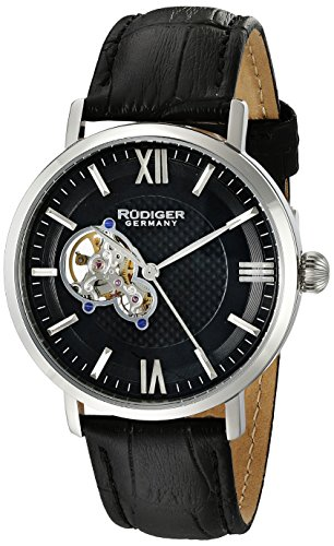 Rudiger Men's R3500-04-007 Stuttgart Analog Display Automatic Self Wind Black Watch