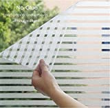 #1: TOTAL HOME :New Privacy Home Static Cling Window Sun Shade Film No Glue Self Adhesive Decorative Sticker {SIZE: 60X122 CM} 2 PICS