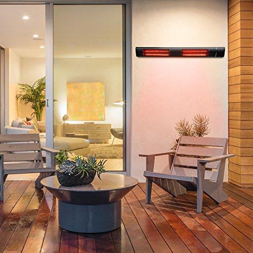 blumfeldt Gold Bar 3000 • Infrarot-Heizstrahler • Wand-und-Decken-Heizstrahler • 1000-3000 W • 3 Wärmestufen • IP65 Schutzart • gezielte Wärmeabgabe • blendungsfreie Wärme • Fernbedienung • schwarz - 2