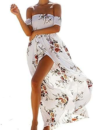a6bb491821 Elevesee Vestiti Donna Eleganti Vestiti Estivi Lungo Vestito ...