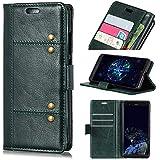 Huawei Mate 20 Pro Case,Huawei Mate 20 Pro Case, Leather Case Premium PU Leather Wallet Snap Case Leather Case Leather Case Flip Case Compatible With Huawei Mate 20 Pro Dark Green