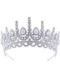 bfa9b83f0c31 auvwxyz Tiaras Estilo Retro Europeo Y Americano Corona De Zircón Tiara  Corona Nupcial Boda Accesorios De