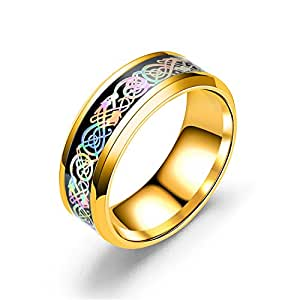 Yellow Chimes Metal Ring for Mens